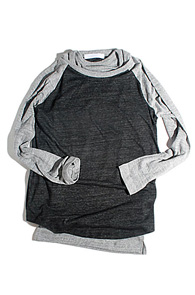 makenoise) basic sleeve raglan dark grey
