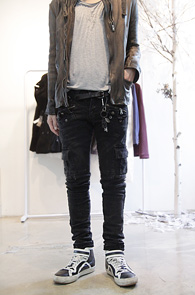Black Washed Pocket Pants