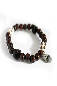 makenoise) stone&wood ball bracelet
