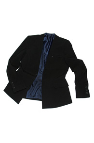 makenoise) hidden one button blazer