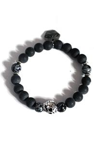 makenoise) ethnic stone bracelet black