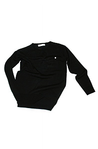 makenoise) basic round neck knit black
