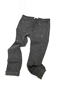 makenoise) dirty washing straight pants grey