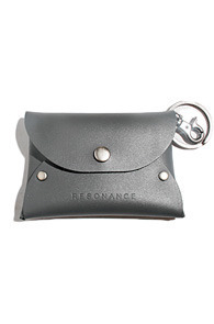 resonance) font card case GREY