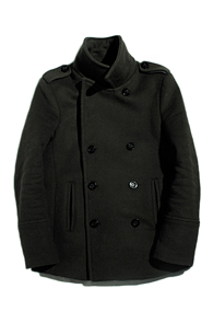 resonance) wool double peacoat Khaki