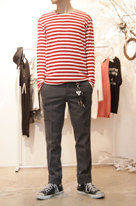 [50% SALE] Basic Round Stripe T-shirts Red<br>��Ʈ������ ������, �����<br>Ȱ�뵵�� ���� ��Ʈ������ Ƽ