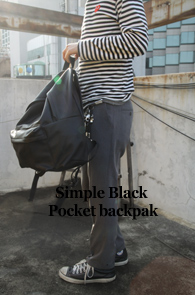 Simple Black Pocket Backpack<br>����ũ ��������, ������ ������<br>�������� �������� ����� ����