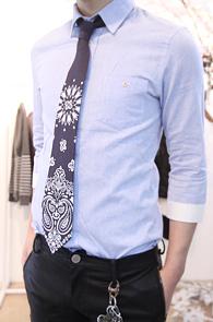 Navy Paisley Pattern Tie