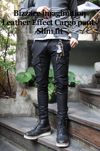 Leather Effect Cargo Pants<br>'re-start point !'<br>���̰���� ���� ����Ʈ ī������<br><font color=#CC9933>new �������� ���!
