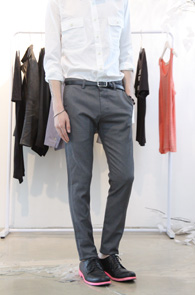 Grey Slim Skinny Slacks Pants<BR>����� ��Ű������ ������ ����<BR>����� �⺻������