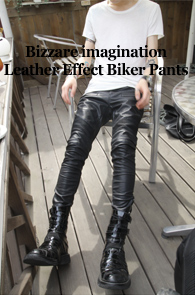 4�� ���԰� ���Ϲ߼�<br>'a Monotonic' Leather Effect Biker Pants !<br><font color=#CC9933>���ڹ������̺�Ʈ