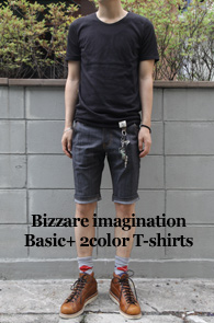 Bizzare imagination Basic +<br>2 color T-shirts<br>�������� �������� ����� Ƽ����