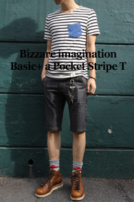Bizzare imagination Basic +<br>a Pocket Stripe T<BR>��Ʈ������ ���ϰ� ������ �ŷ����� Ƽ����