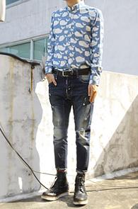 Whale Patten Shirts<br>��Ư�� ����, ���̳�ī��<br>�?������ �ŷ����� ����