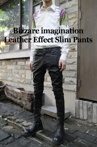 4�� ���԰� ���Ϲ߼�<br>'a Monotonic' Leather Effect Slim Pants !<br><font color=#CC9933>���ڹ������̺�Ʈ