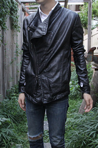 Black Fake Leather Jacket<br>����ũ��������, ���Ī������<br>�������� ����ũ ��������