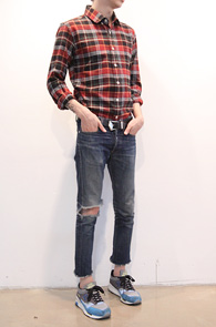 Red Check Flannel Shirts<BR>�ö��� ����, üũ����<BR>���������� Ȱ�뵵 ���� üũ����