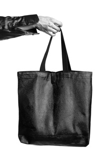 makenoise)Black wax coated eco bag