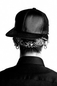 makenoise)Black wax coated snapback