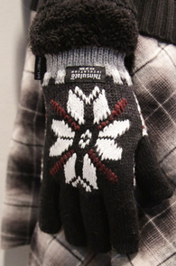 Snow Pattern Thinsulate Gloves<BR>��������, �Ž�����Ʈ����<BR>�پ ���¼��� ��Ʈ �尩