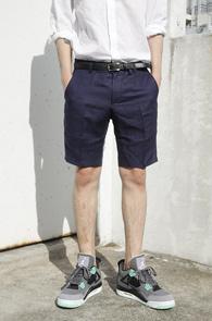 Navy Linen Half Pants<br>���̺��÷�, ���ټ���<br>������ �������� �������ٽ�����