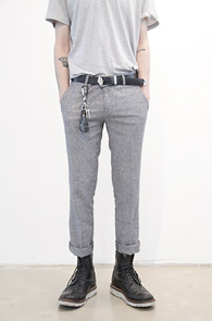 Light Grey Linen Crop Slacks<br>���ټ���, ����Ʈ�׷����÷�<br>ũ��Ʈ���� ���� ������