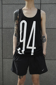 Black Numbering Printing Sleeveless<br> ��ư ����, �? �÷�<br>�ѹ��� �������� �ŷ����� �����긮��