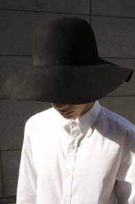 Black Wool Floppy Hat