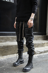 Black Coating Rick Baggy Pants<br>�?�÷�, ���ð�����<br>���ð������� �? �������