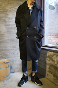 Black Over Fit Double Coat<BR>�?�÷�, ij�ù̾� �� ȥ��<BR>�ڽ��� ���� ���� ��Ʈ