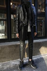 Black Goat Skin Biker Jacket<br>�۾��� ���� ����, ����Ŀ ������<br>����ĿŸ���� ���̴� ����