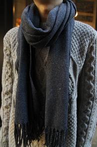 Navy Wool Muffler<BR>�����, ���̺� �÷�<BR>�ܿ�ö �'� �������� �� ���÷�