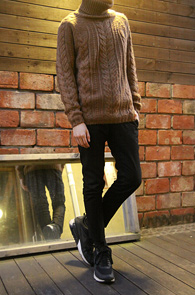 Beige Cable Turtle Neck Knit<br>������ �÷�, ��ũ�� Ž ���<br>����Ƽ�� �پ Ʈ����Ʈ ��Ʋ��