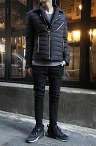 Black Padding Rider Jacket<br>�?�÷�, 6�½� �������<br>���̴� Ÿ���� �е�����