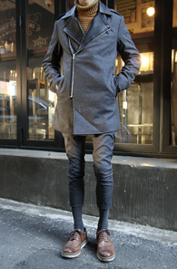Grey Wool Rider Mix Coat<bR>�׷����÷�, �����<br>���̴� Ÿ���� �� �� ��Ʈ