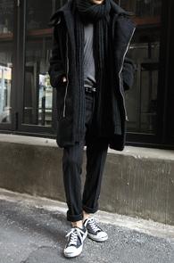 Black Wool Neck Buckle Coat<br>�?�÷�, �� ������<br>���� ���¼��� ������ ��Ʈ