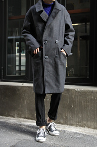 Grey Wool Over Fit Double Coat<br>�����÷�, �����<br>�ڽ��� ���� ������Ʈ