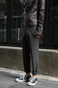 Grey Stripe Wool Slacks<br>�����÷�, �� ����<br>��Ʈ������ ������ ������