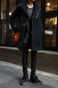 Navy Wool Rider Long Coat<br>���̺��÷�, �����<br>������ ���۵� �� ���̴� ��Ʈ