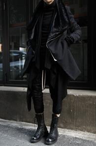Black Fur Mix Wool Coat<br>�?�÷�, ��������<br>�� �������� �ڽ����� ��Ʈ