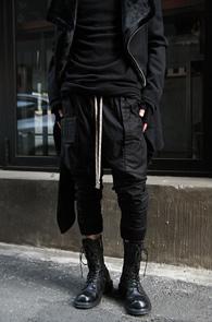 Black Baggy Joger Pants<br>��ư����, �?�÷�<br>������� ����ũ�� ��������