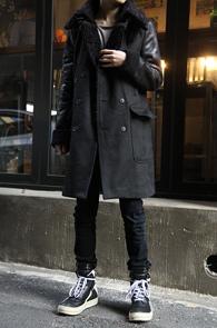 Black Long Mouton Coat<br>�?�÷�, �� ������<br>ũ������ ���� �ͽ��� ��������Ʈ
