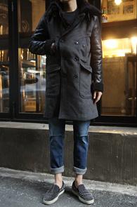 Grey Long Mouton Coat<br>�����÷�, �� ������<br>ũ������ ���� �ͽ��� ��������Ʈ