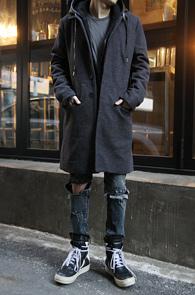 Single High Neck Wool Coat Grey<br>�� ī��, ���� �÷�<br>����� �Ƿ翧�� ���� ��Ʈ