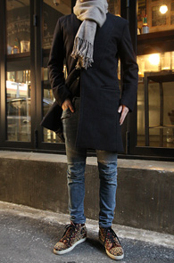 Single High Neck Wool Coat Black<br>�� ī��, �? �÷�<br>����� �Ƿ翧�� ���� ��Ʈ