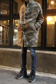 Beige Camo Over Fit Coat<br>������ ���� ī�� ����<br>ī���������� ���۵� ������ ��Ʈ