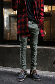 Khaki Biker Fit Cotton Pants<Br>��ư����, ����Ŀ ������<br>������ �Ͱ��� ��ư ����Ŀ
