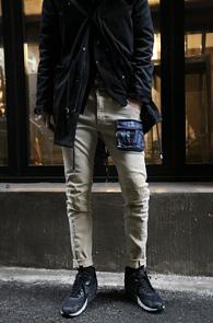 Beige Cotton Pocket Pants<br>�������÷�, ��ư����<br>������ ���� ������ ��ư����