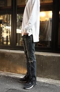 White Side Zipper MTM<BR>��ư����, ȭ��Ʈ �÷�<BR>�����ִ� ���� ���̵���� ������