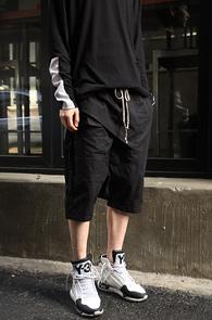 Black Cotton Memphis Shorts<br>�?�÷�, ��ư����<br>����ũ�� �������� ��� ����